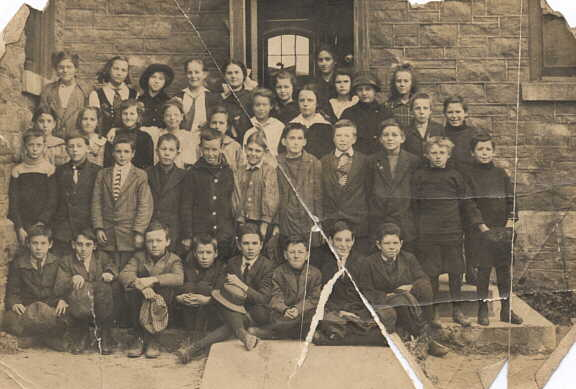 Photograph of unknown school class