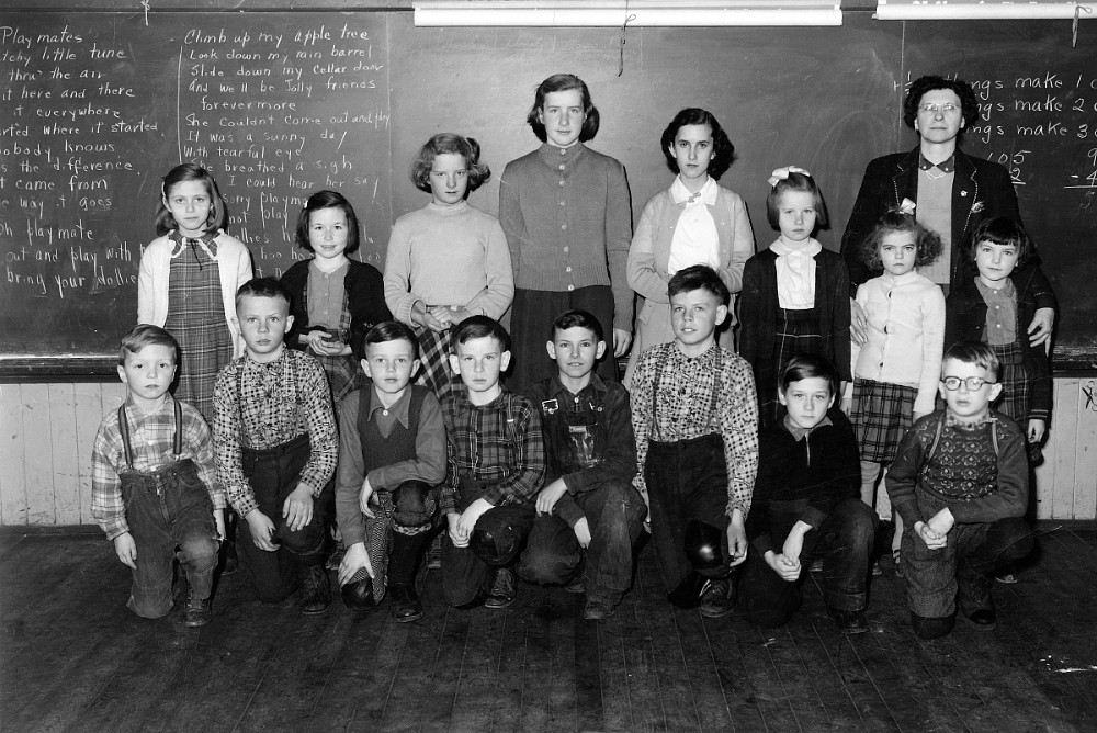 Students of S.S. No. 7, North Winchester Township, Ontario