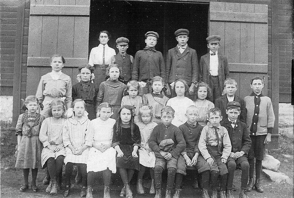 Photograph of a school class at Elphin, Ontario, about 1912 or 1913.