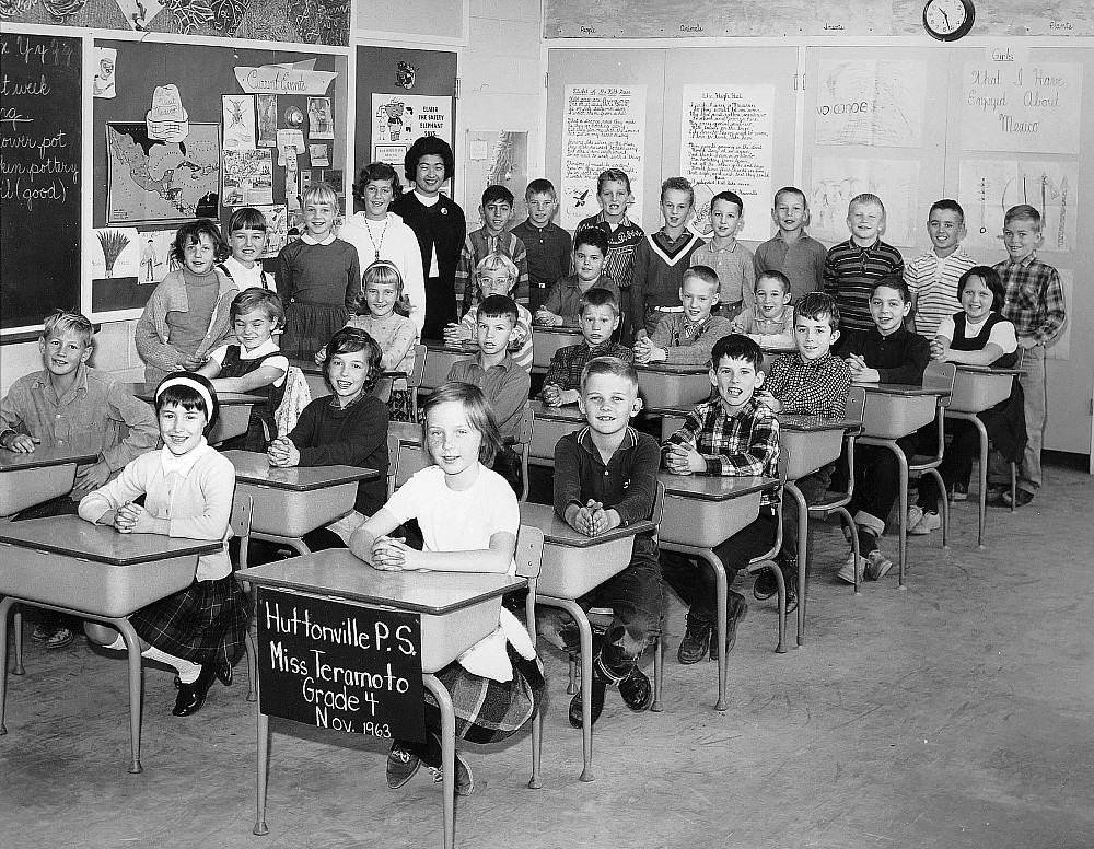 Huttonville Public School, 1963, class photo