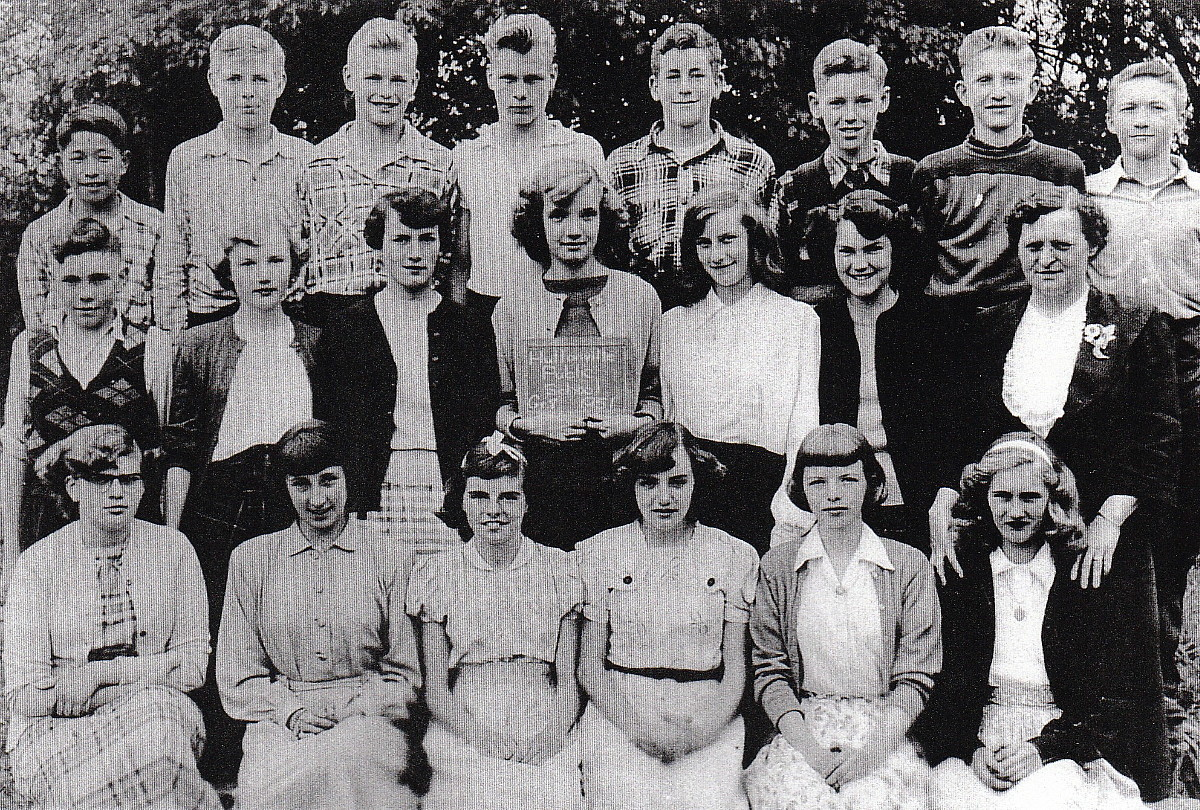 Huttonville Public School, 1951 Class Photo