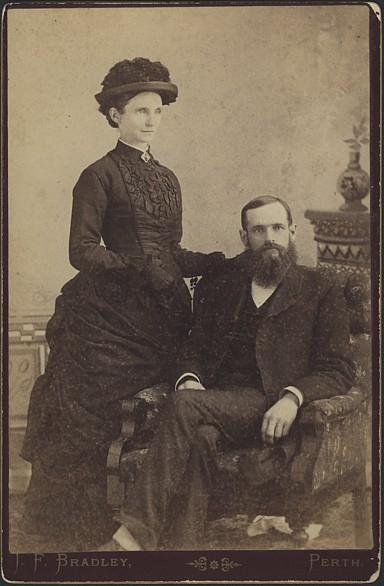 Rev. A.G. Robertson and sister Aggie.
