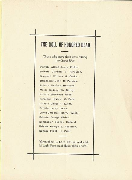 Page 1 of Saint John's Church, Smiths Falls, 1929 Annual Report.