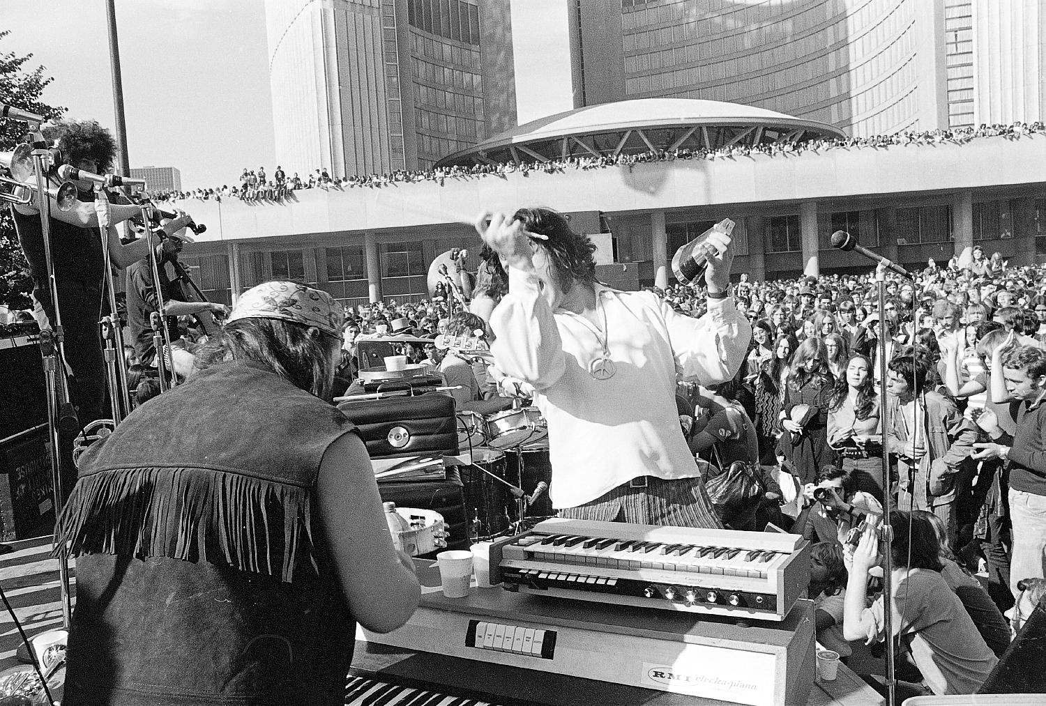 Lighthouse Concert at City Hall, Toronto, 1970.